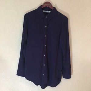 Michael Stars xs purple button down shirt dress